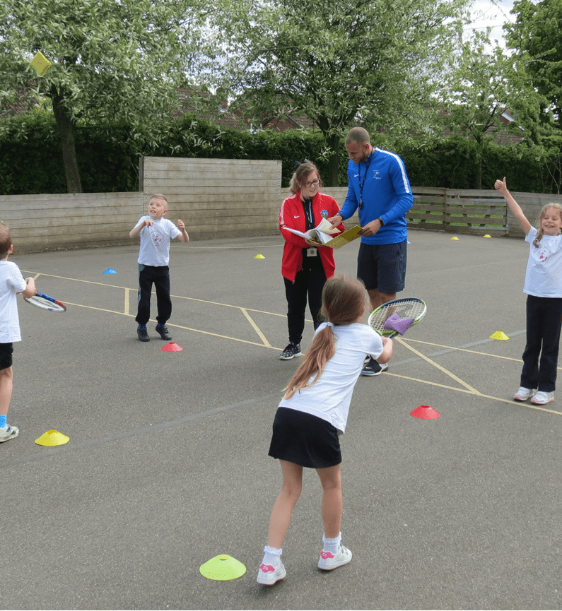 children having a PE lesson