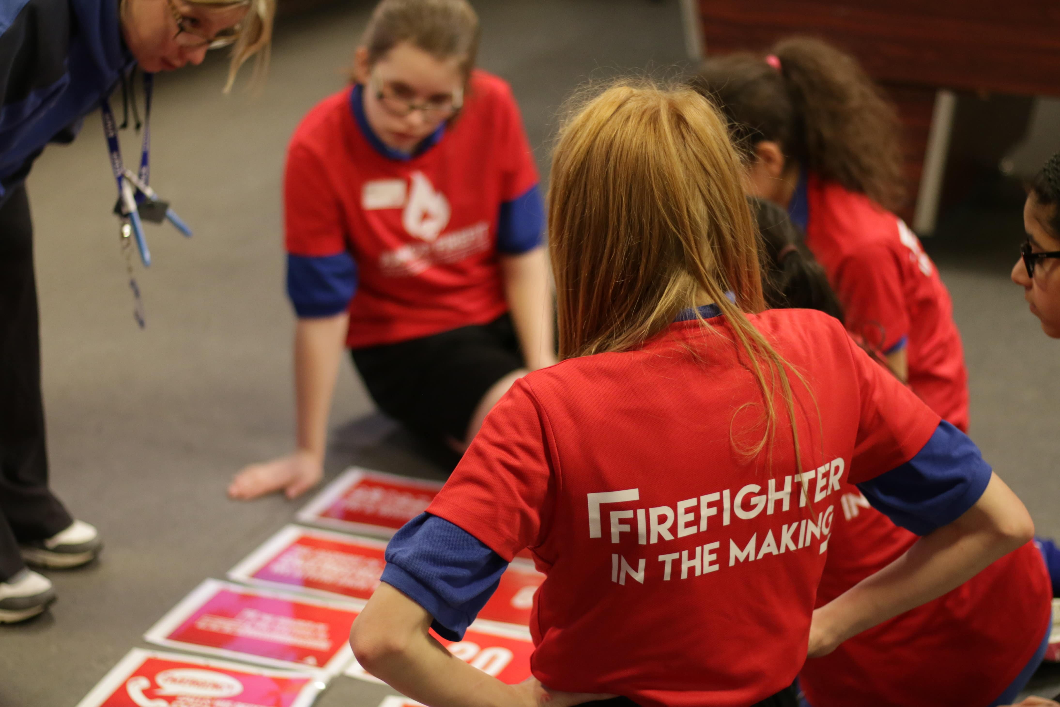3 girls taking part in Fire Fit Activity session