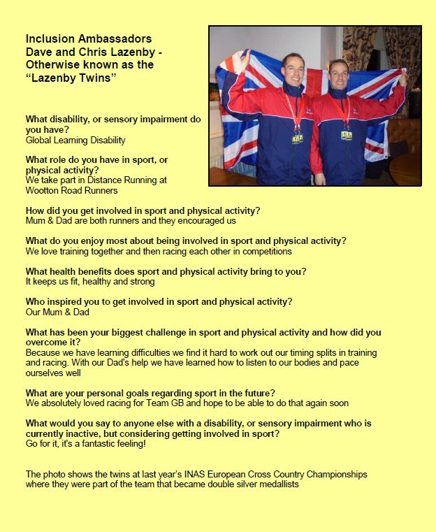 Profile of Dave and Chris Lazenby
