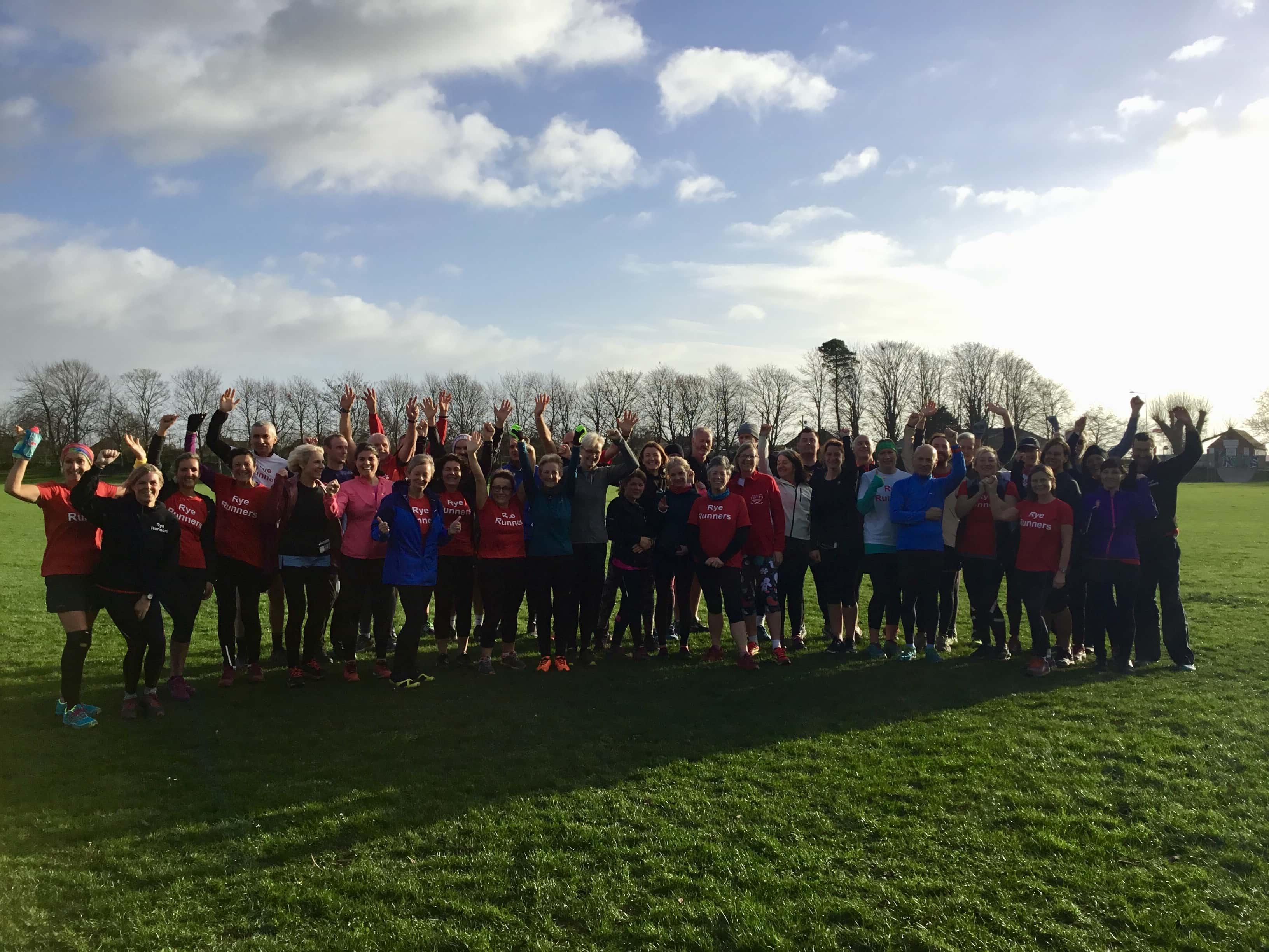 group shot of running group