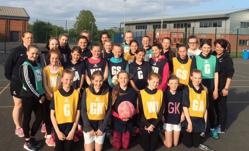 group shot of members of the netball club