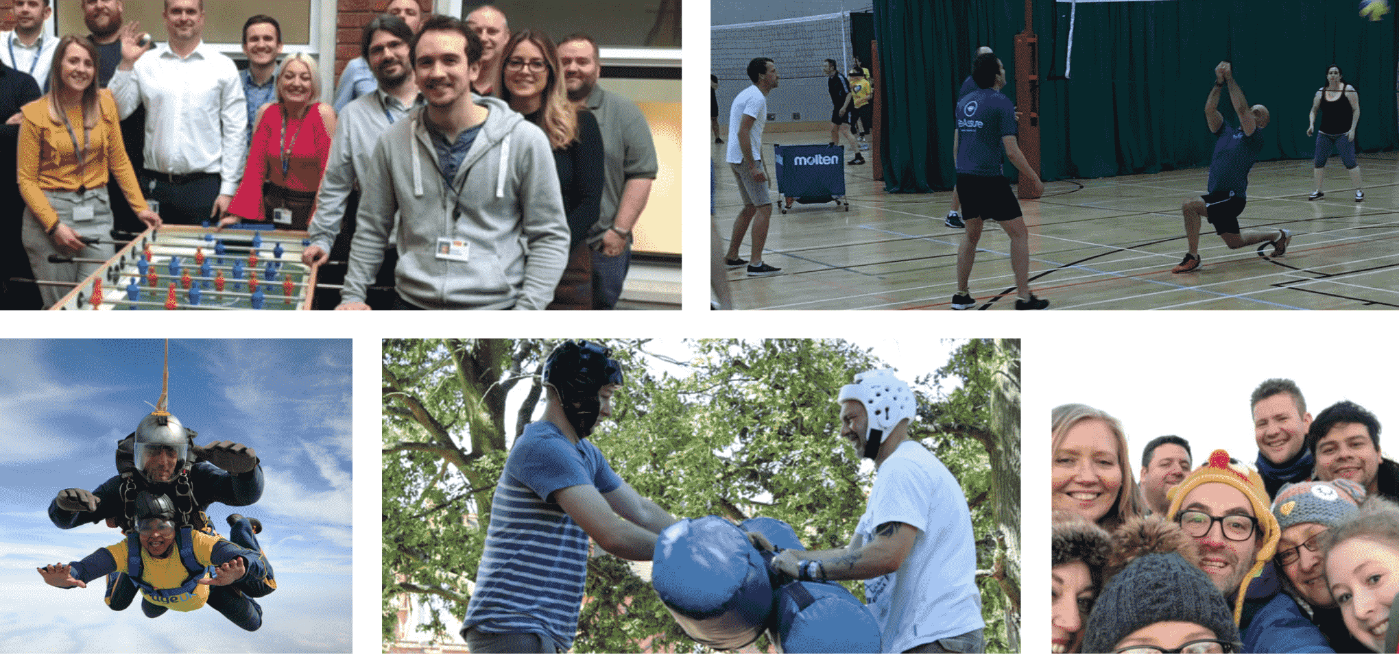 collage of photos showing workforce active