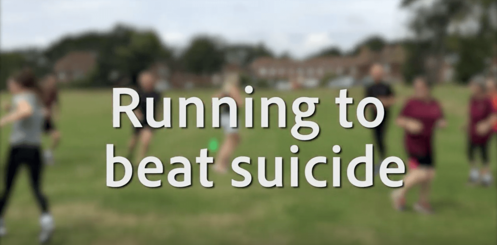 people running with text running to beat suicide