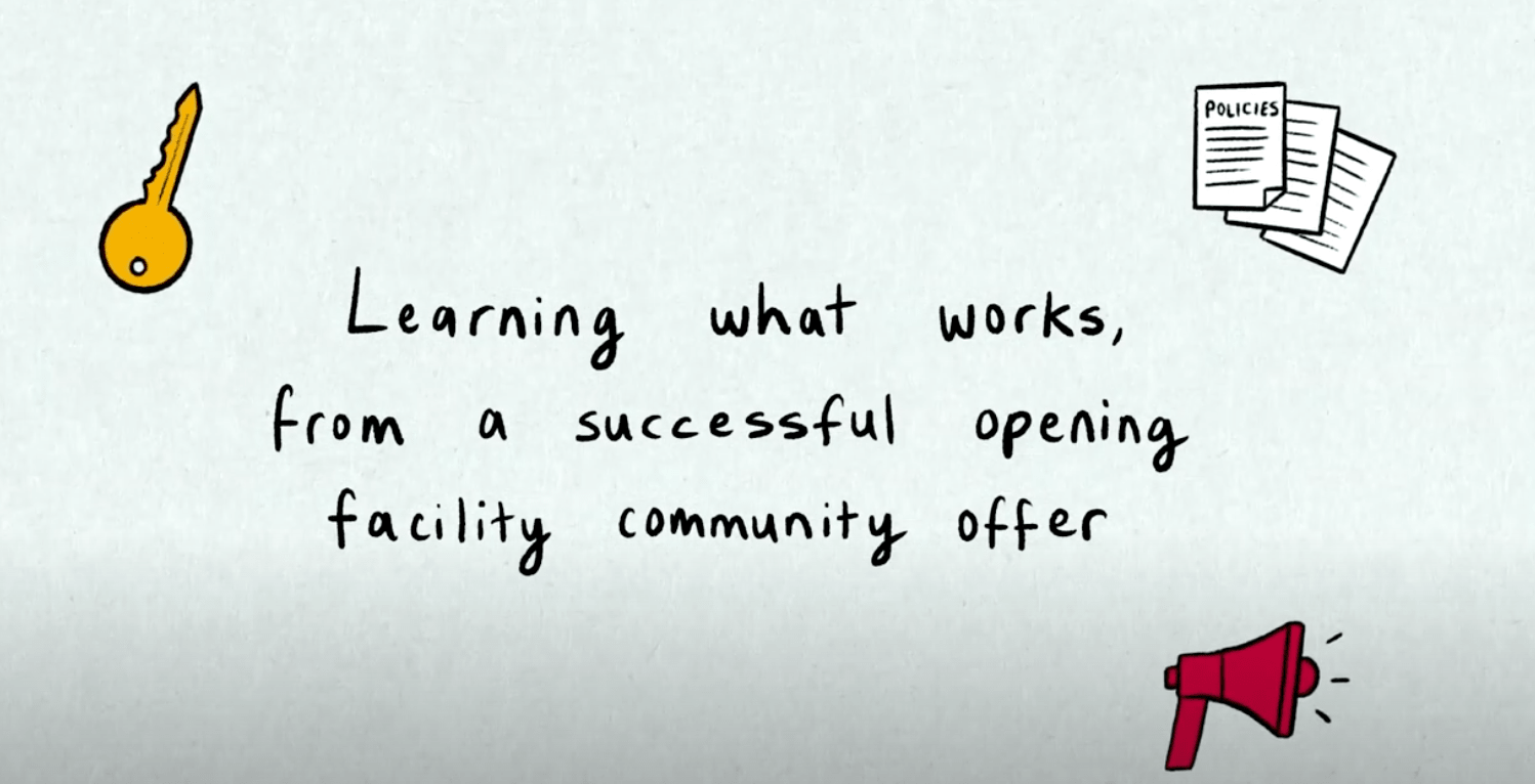 learning what works from a successful opening facilities community offer
