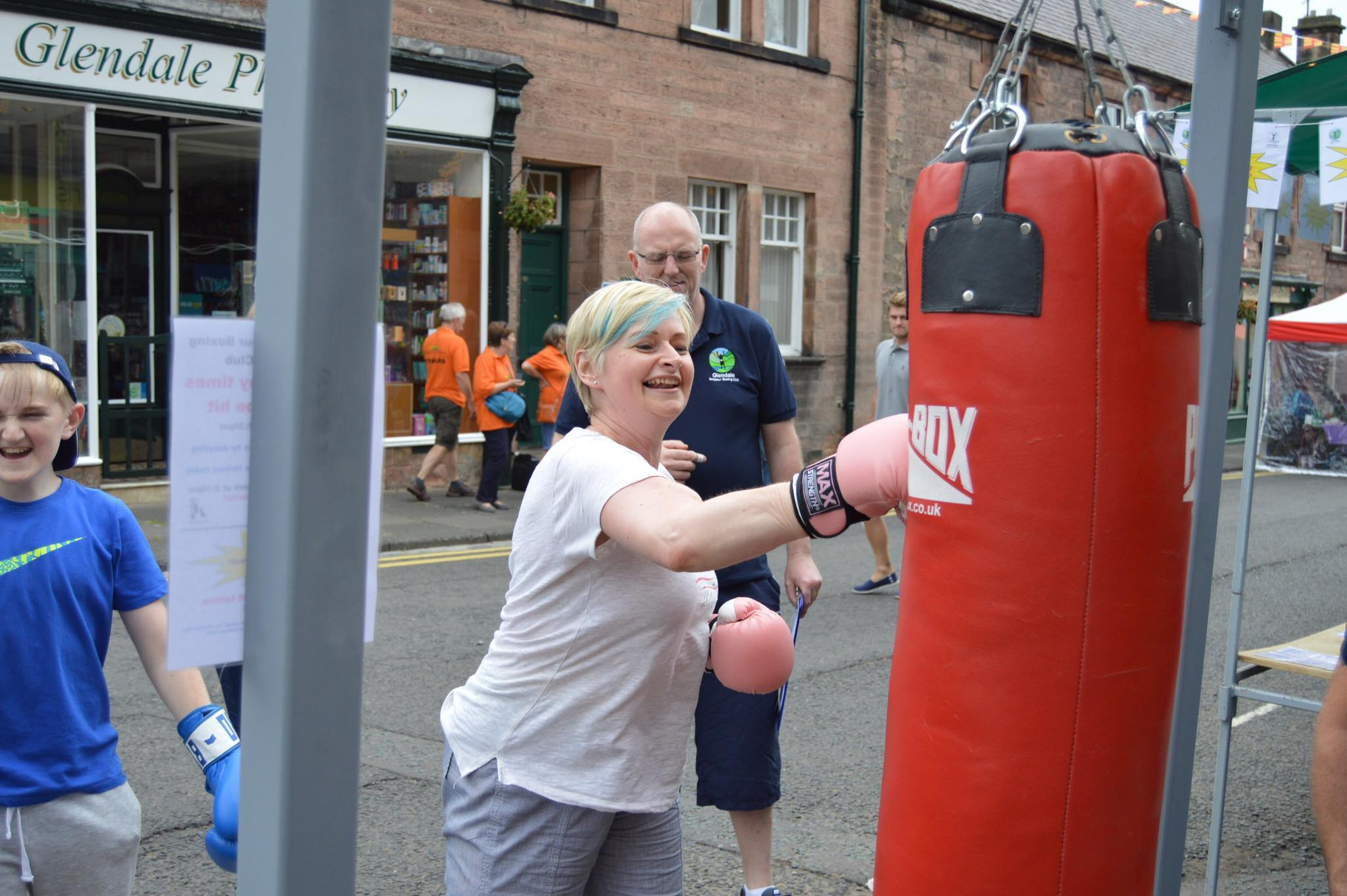 women participating in boxing session