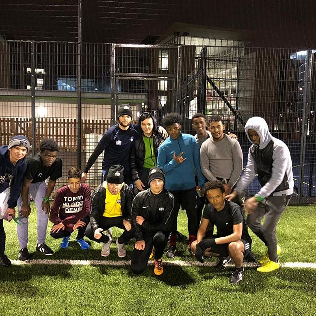 group shot of the footballers
