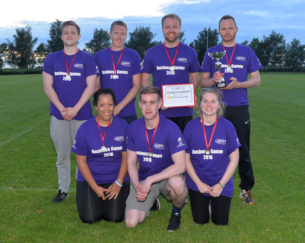 Winning team photo