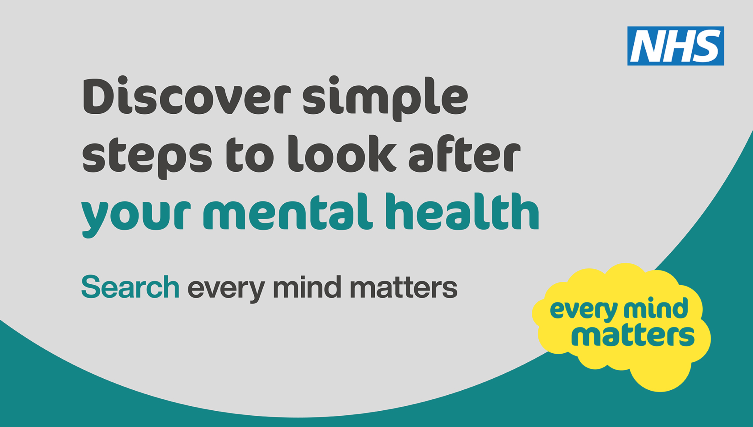 poster encouraging people to search Every Mind Matters
