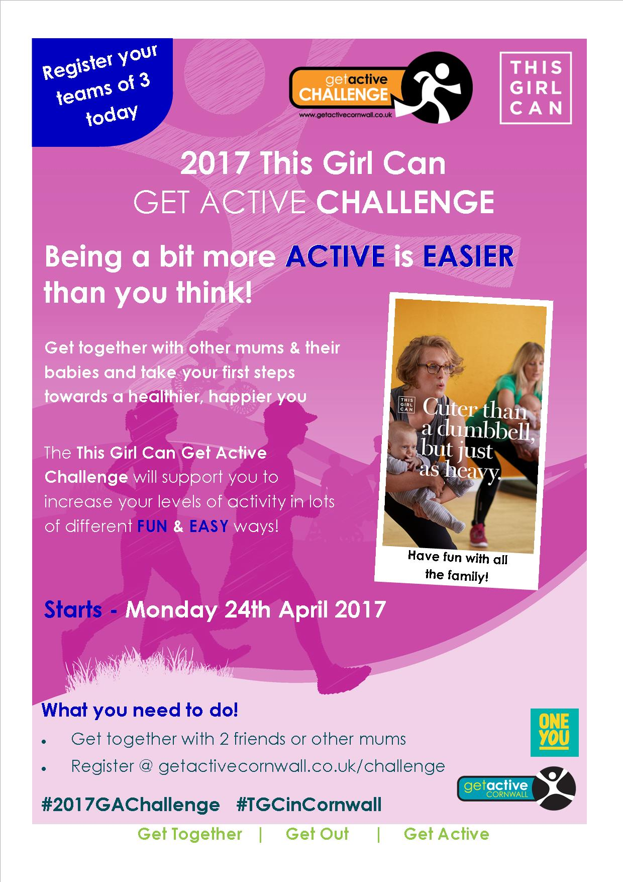 poster advertising Get Active Challenge