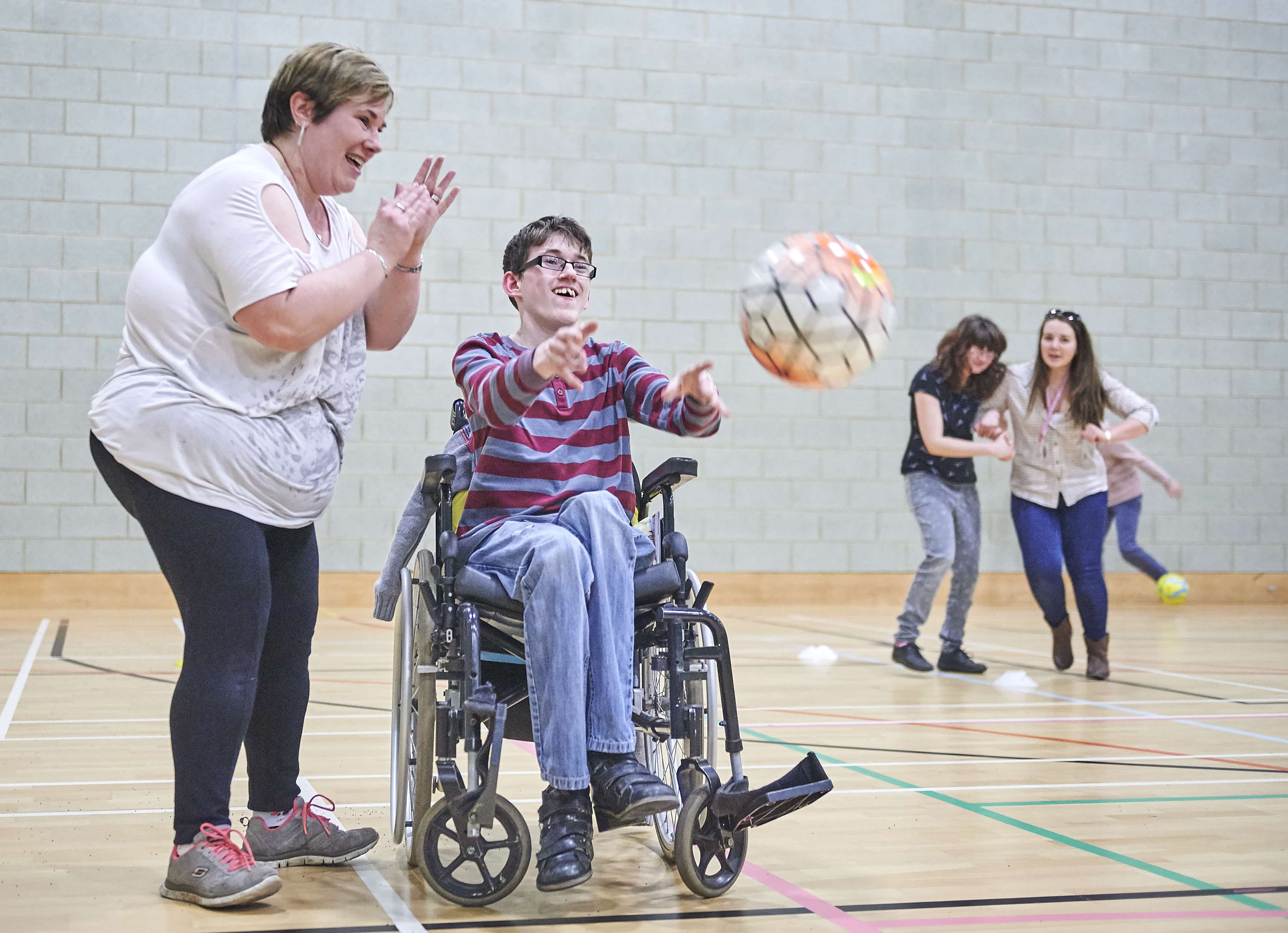 people enjoying inclusive netball session