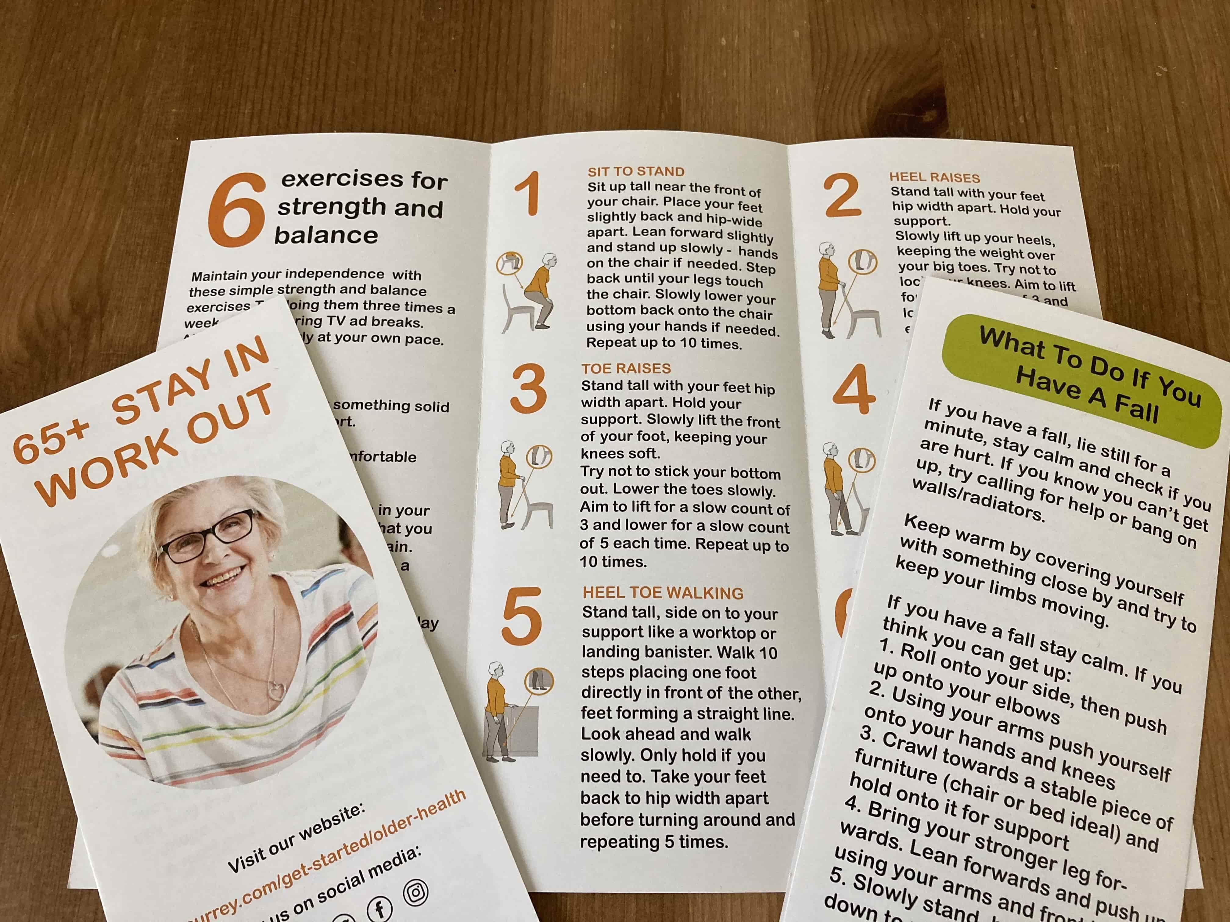 falls prevention leaflet