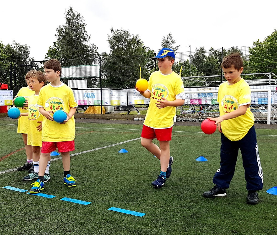 children from Change for life club being active
