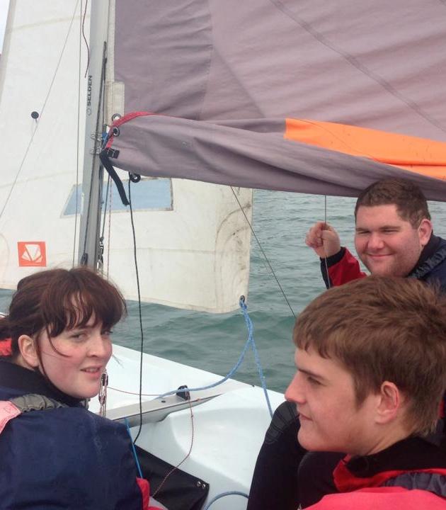 participants sailing