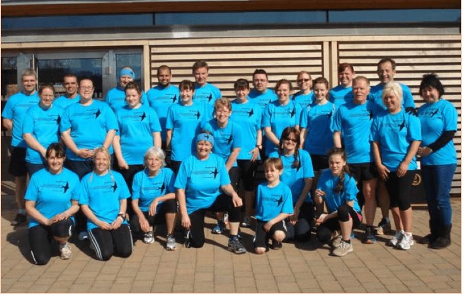 Group shot of Swift-Tees Running Club