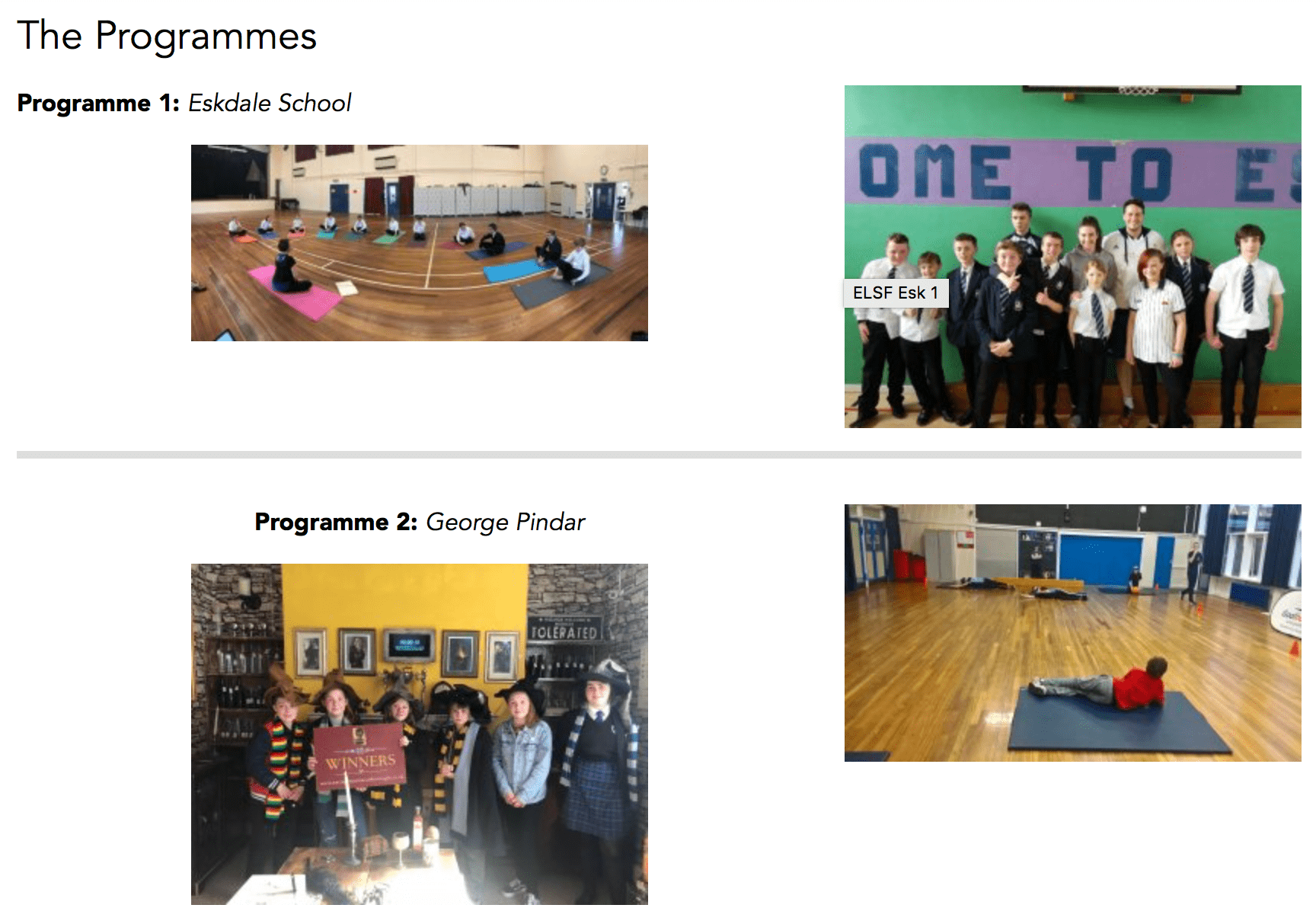 pictures of people participating in the achieve programme