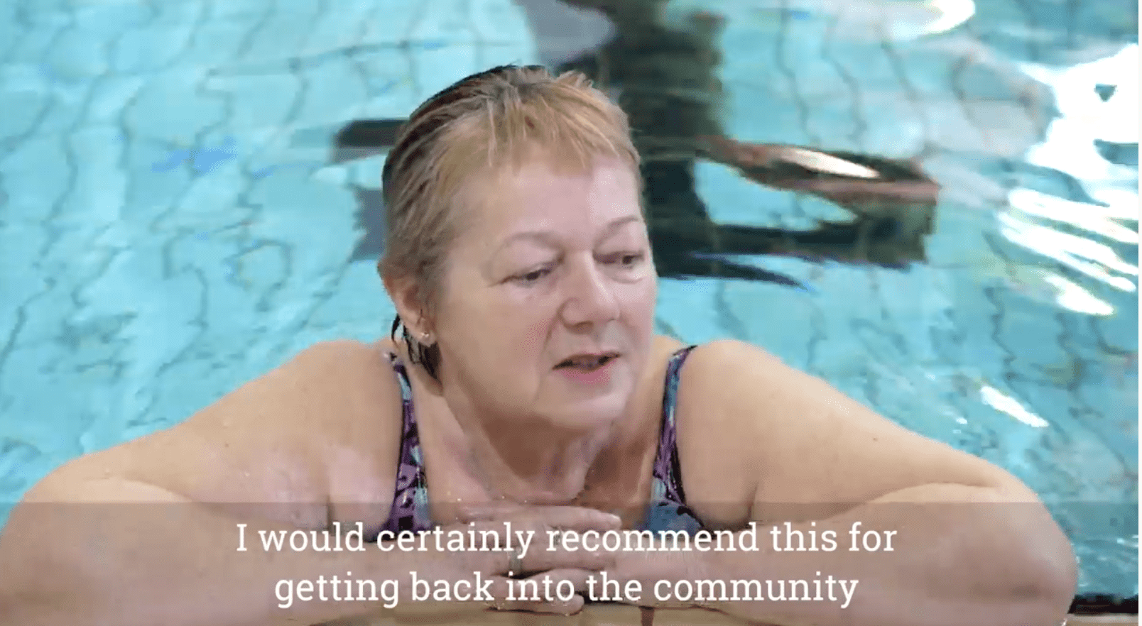 a female participant of Active Herts in the swimming pool