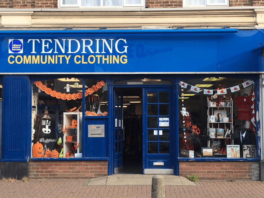 shop front of Tendering community clothing