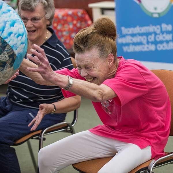 Older people enjoying movement