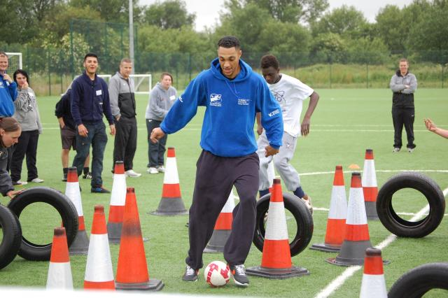 Participants taking part in training session