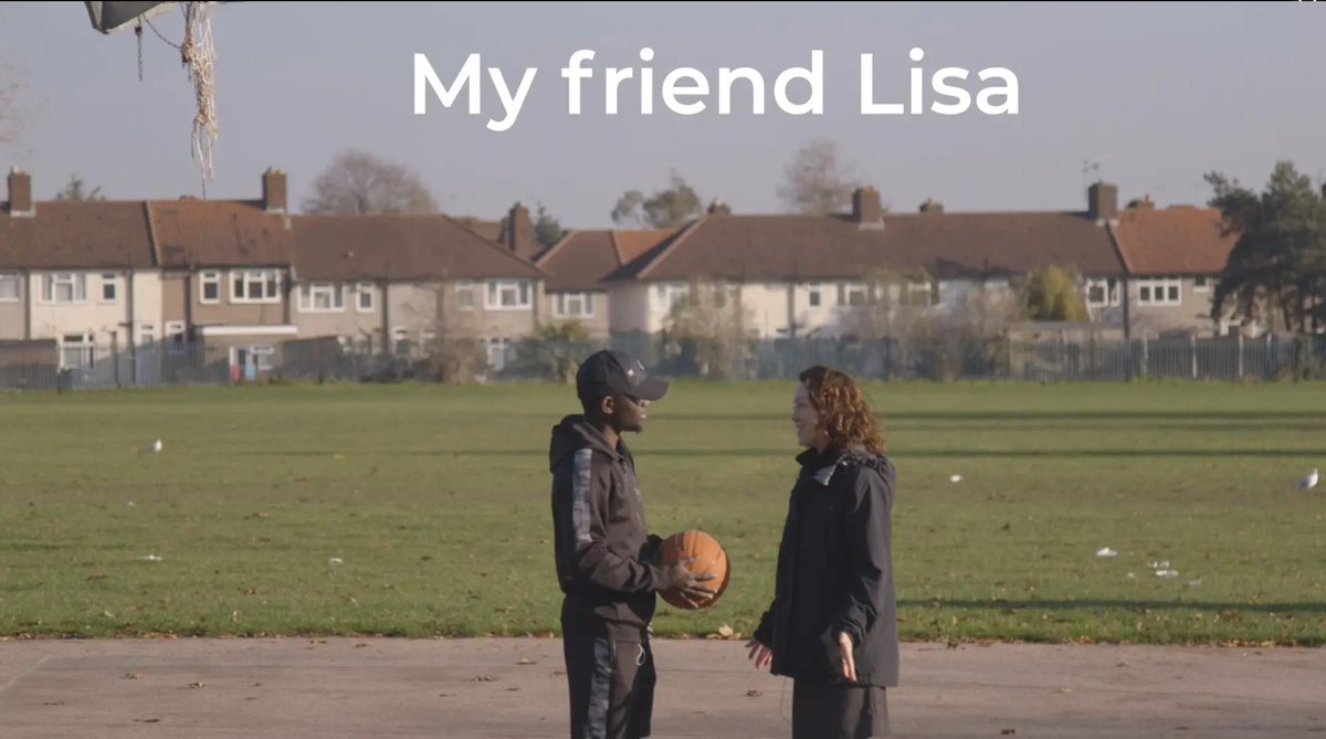 Lisa in the park before it was transformed