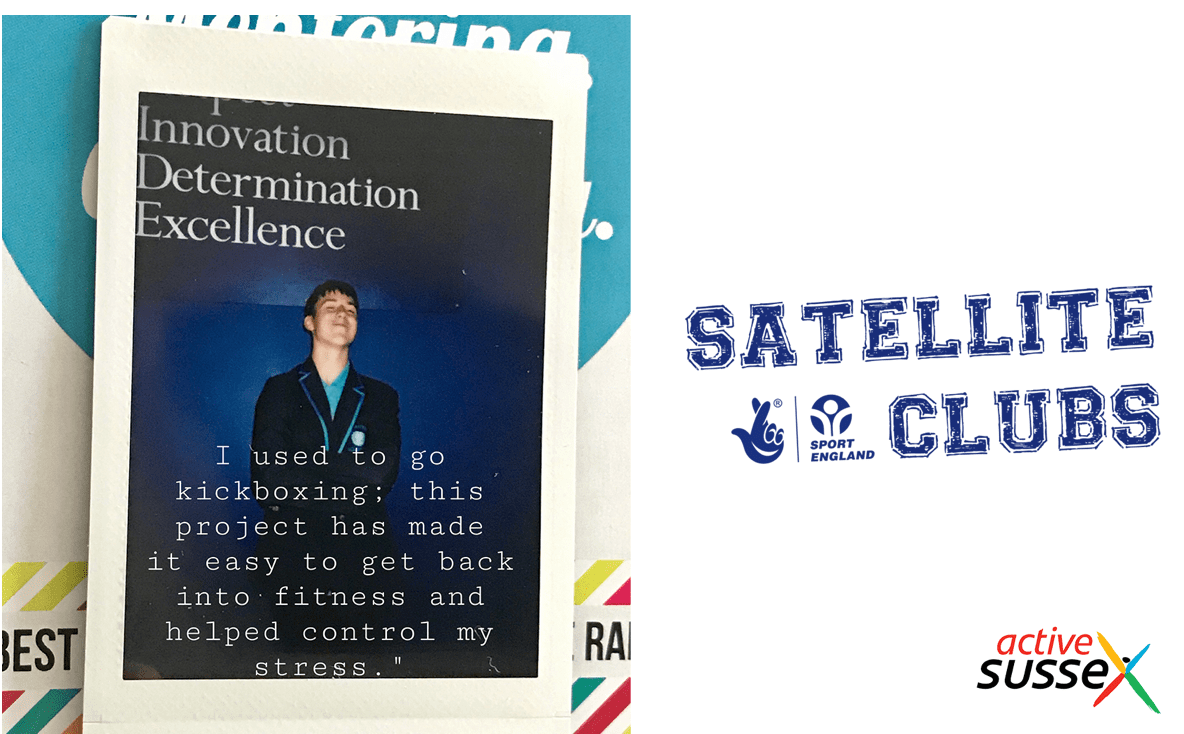 Poster of one of the participants with words Innovation, Determination, Excellence