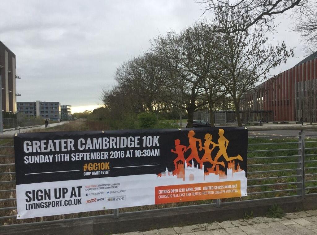 Posters advertising 10k Run