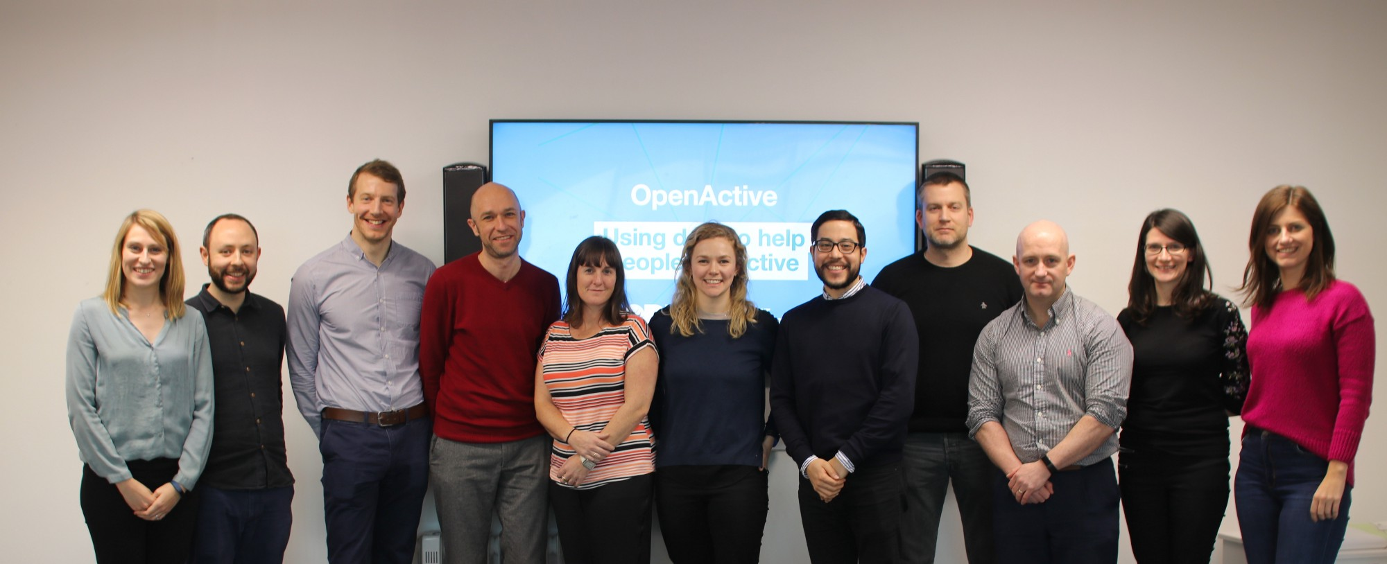 Group picture of 10 OpenActive Champions