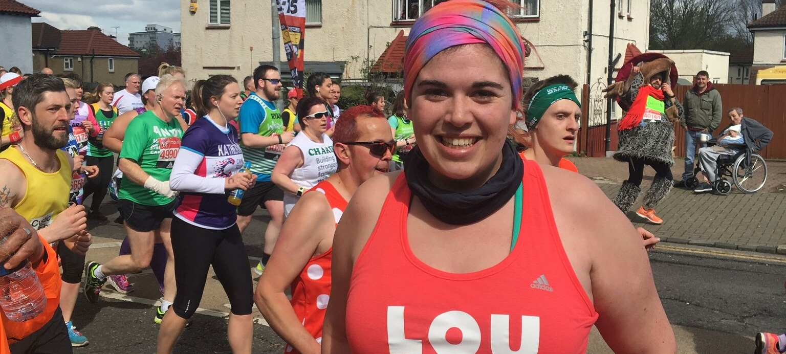 Louise Running the London Marathon