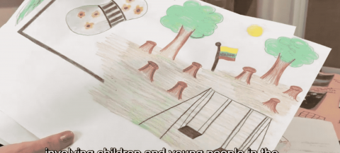 childs drawing showing ideas for projects