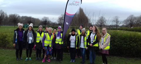 female parkrun volunteer team