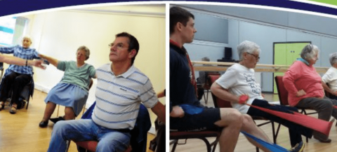 group seated exercise class