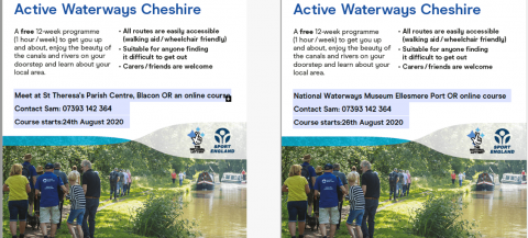 leaflets providing the details of the walks.