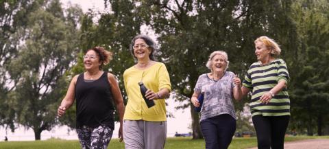 four females enjoying a walking session