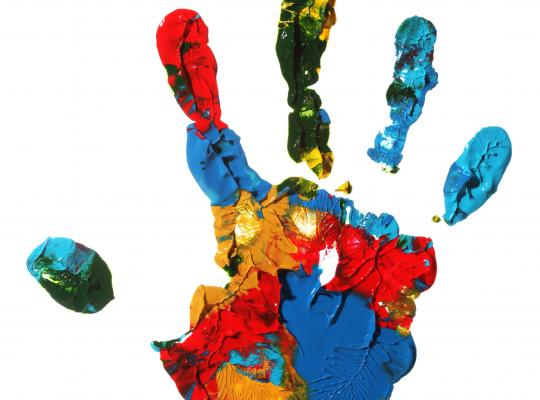 colourful hand image
