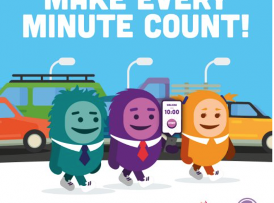 cartoon picture with slogan Make Every Minute Count