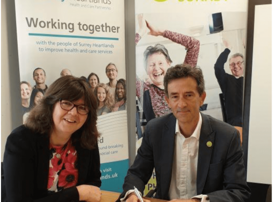 Richard and Claire signing MOU