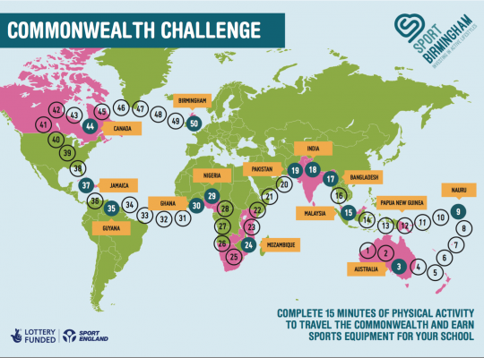 map of commonwealth challenges