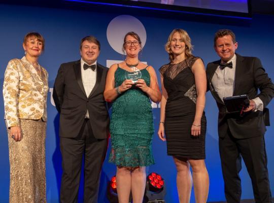 CSPs collecting award at UK Coaching awards