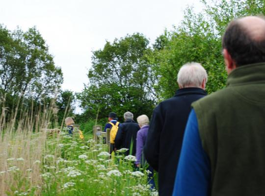 People walking in the country side