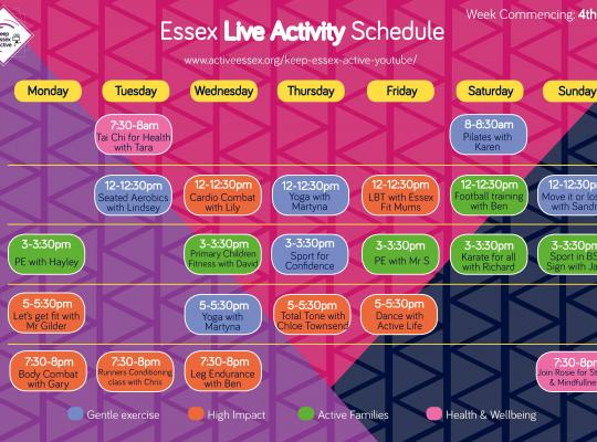 example timetable