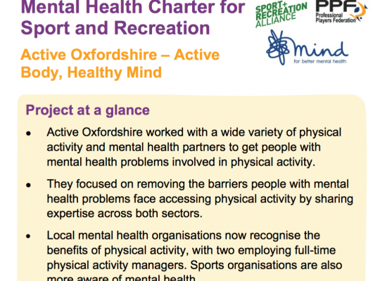 aims of the Active Oxfordshire Project
