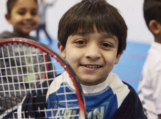 Boys with Tennis racket