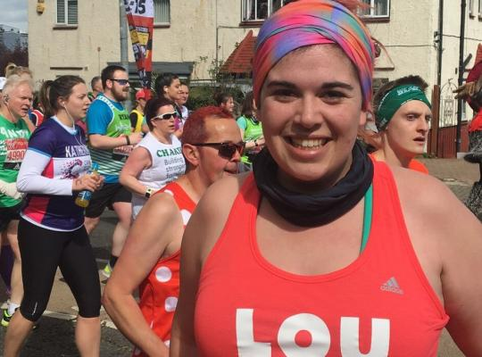 Louise Running the London Marathon